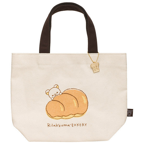 Canvas mini Tote Bag Rilakkuma Bakery San-X Japan