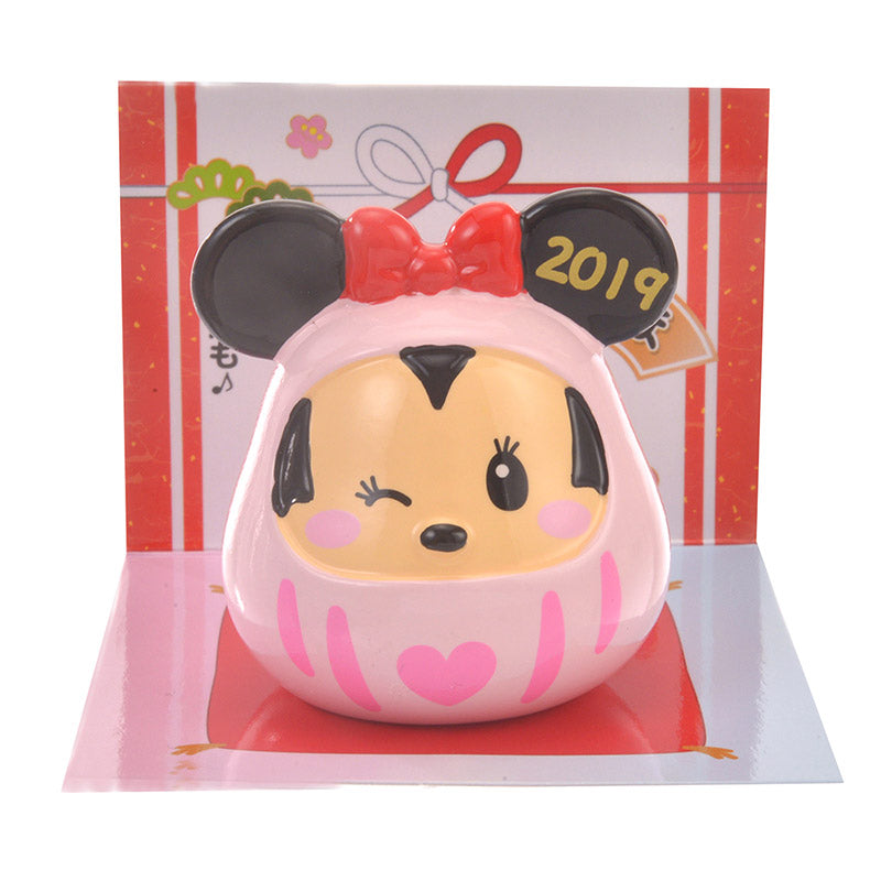 Minnie Daruma Mascot Disney Store Japan New Year