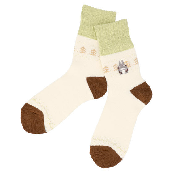 My Neighbor Totoro Room Socks 23-25cm Midi length Off White Studio Ghibli Japan