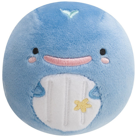 Kokujira Whale Round Plush Doll Face Happy Super Soft San-X Japan Jinbei San