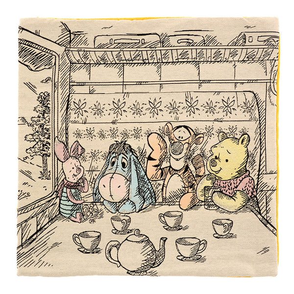 Winnie the Pooh & Friends Cushion Cover Christopher Robin Disney Store Japan