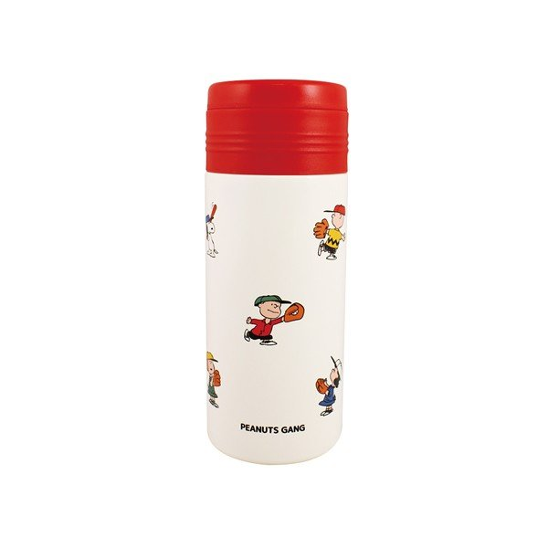 Snoopy Stainless Bottle 330ml Baseball Red PEANUTS Japan