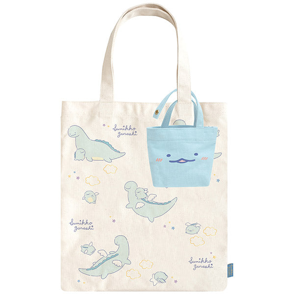 Sumikko Gurashi Tote Bag w/ mini pouch Tokage Lizard's Dream San-X Japan