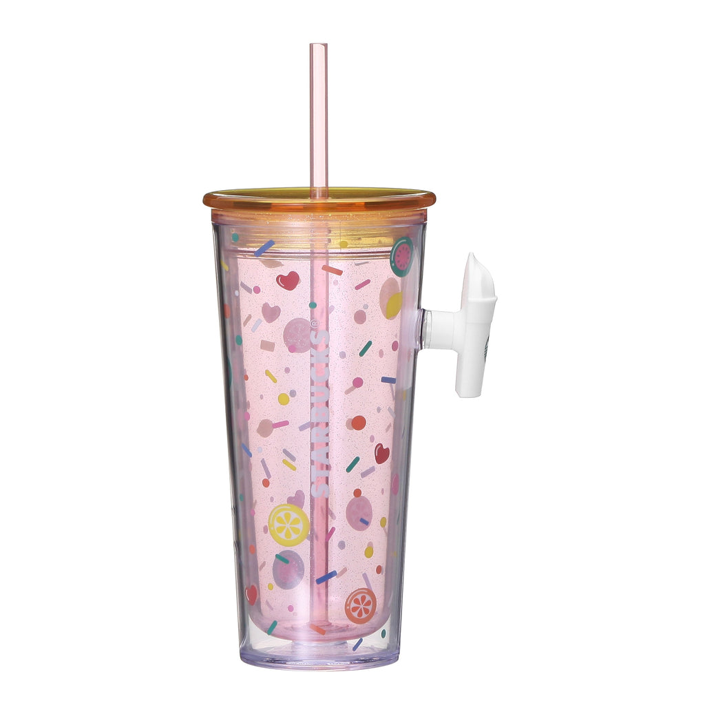 Handle Tumbler Straw Happy 473ml Starbucks Japan