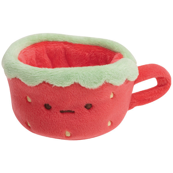 Sumikko Gurashi mini Tenori Plush Doll Cup Strawberry Fair San-X Japan