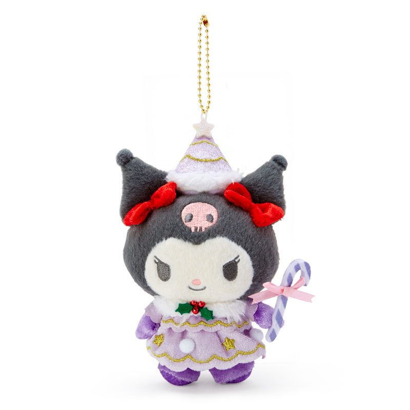 Kuromi Plush Mascot Holder Keychain Christmas Fairy Sanrio Japan 2020