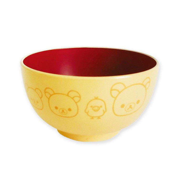 Rilakkuma Soup Bowl Kids Yellow Happy Life San-X Japan