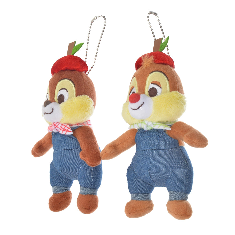 Chip & Dale Plush Keychain Apple Ringo Zakka Disney Store Japan