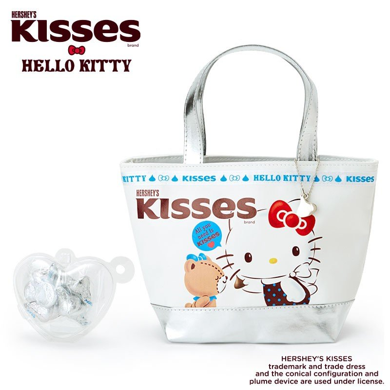 bb7f4eab13ba Hello Kitty mini Tote Bag with HERSHEY S Kisses Chocolate Sanrio Japan