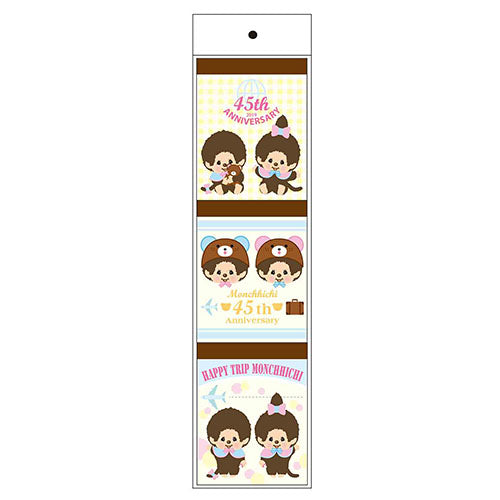 Monchhichi Memo Note Pad 3pcs B HAPPY TRIP MONCHHICHI Japan 2019