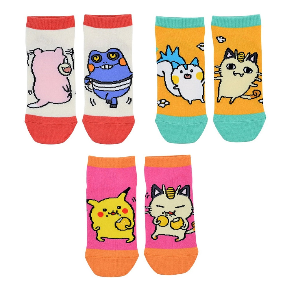 Short Socks 3pcs Set V1 24 Hours Pokemon CHU Pokemon Center Japan Original
