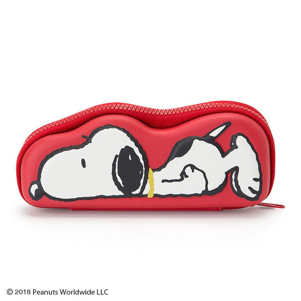Peanuts Snoopy Glasses Case '80s Design Sanrio Japan