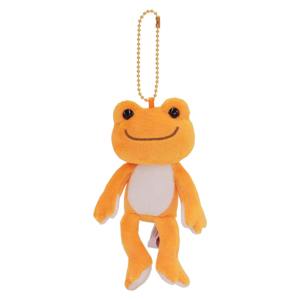 Pickles the Frog Plush Keychain Orange Rainbow Color Japan