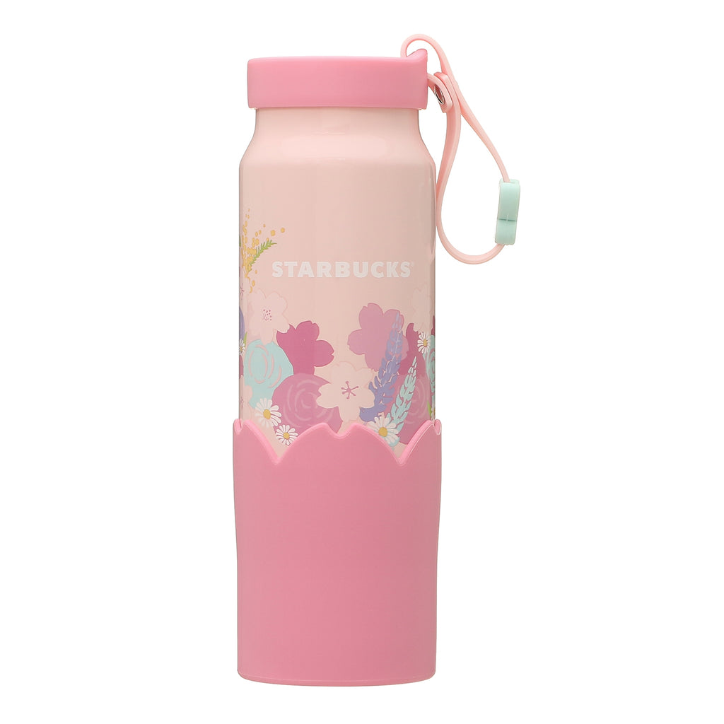 Silicon Strap Bottle Tumbler Petal 355ml SAKURA 2021 Starbucks Japan Ver. 2