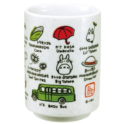 My Neighbor Totoro Tea Cup Sushi Mug w/ English translation Studio Ghibli Japan