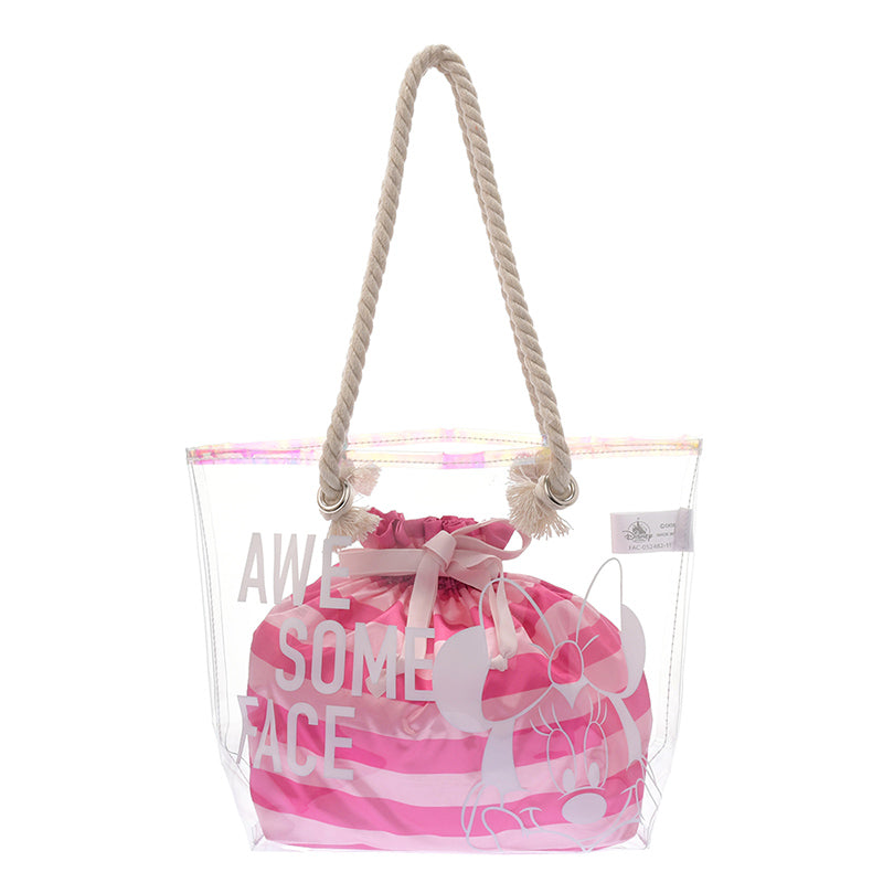 Cheshire Cat PVC Tote Bag Pink Pattern Disney Store Japan Alice in Wonderland