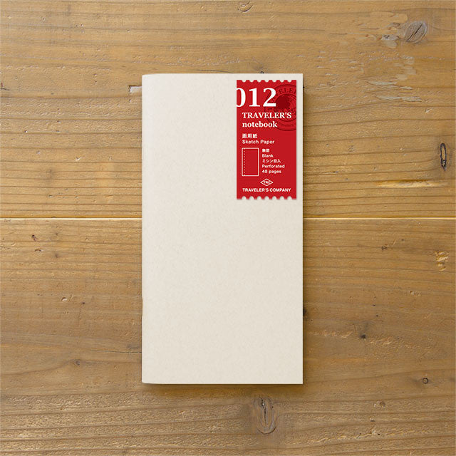 Traveler's Notebook Japan Regular Size Refill 012 Sketch Paper 14286006 Midori