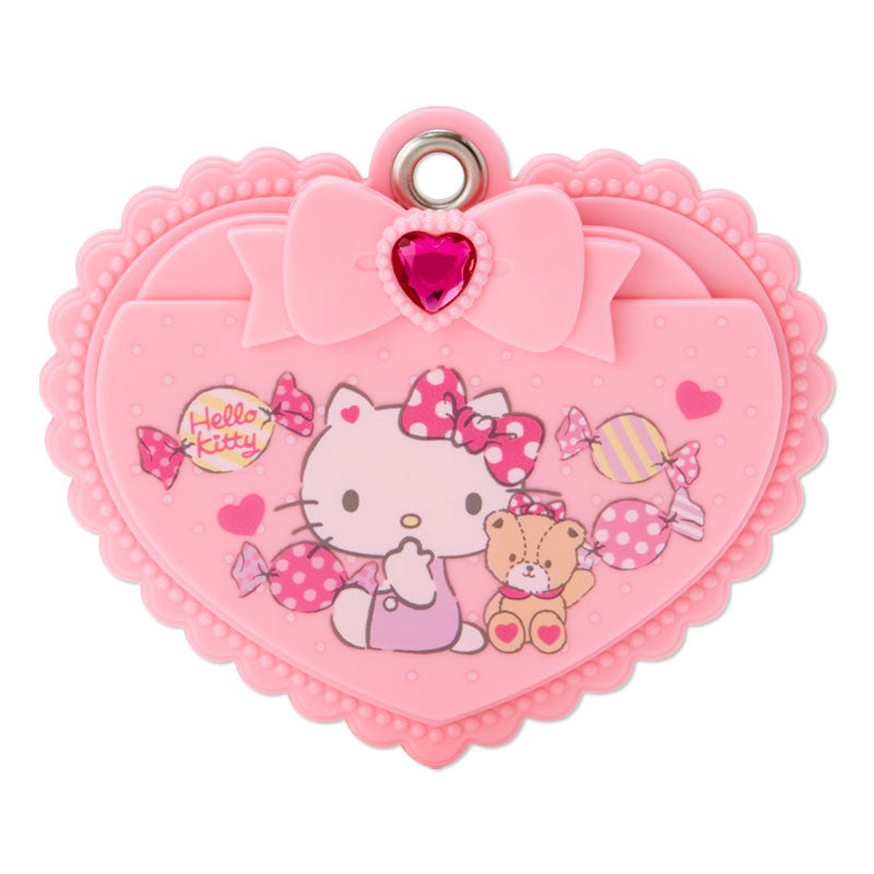 Hello Kitty Slide Mirror & Comb Pink Heart SANRIO Japan