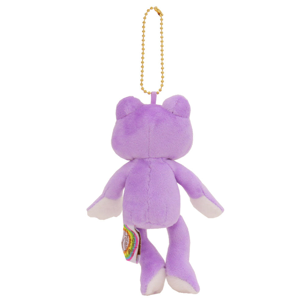 Pickles the Frog Plush Keychain Violet Purple Rainbow Color Japan