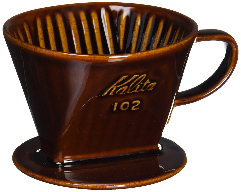 Ceramic Coffee Dripper 102-Lotto 02003 Brown Kalita Japan