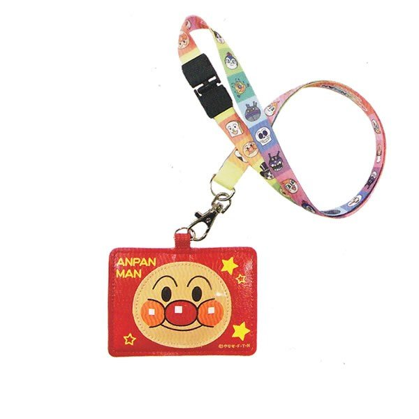 Anpanman Pass Case Neck Strap Red Japan