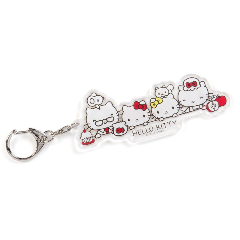 Acrylic Keychain Key Holder HELLO KITTY ACTION TOUCH YOUR HEART Sanrio Japan