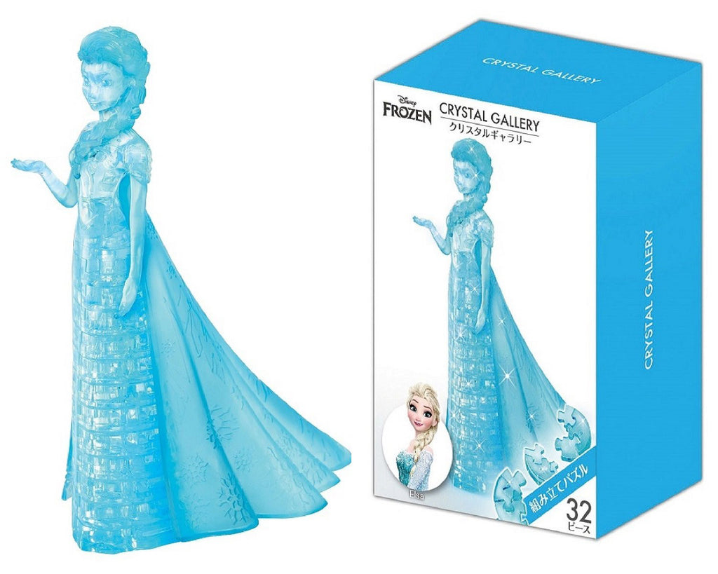 Frozen Elsa 32 pcs 3D Puzzle Crystal Gallery Disney Japan Hanayama