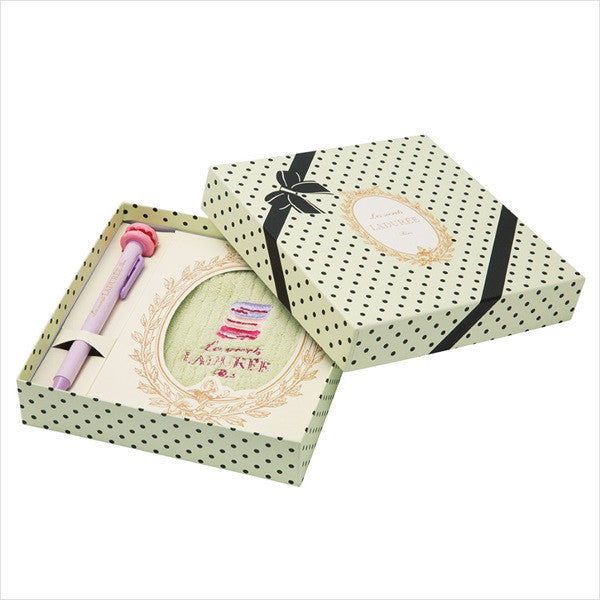 Ball-point Pen mini Towel Gift Box Set Mint Green Laduree Japan