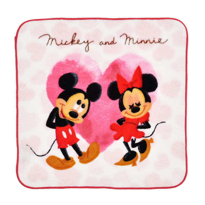 Mickey & Minnie mini Towel Valentine 2020 Disney Store Japan w/ Package