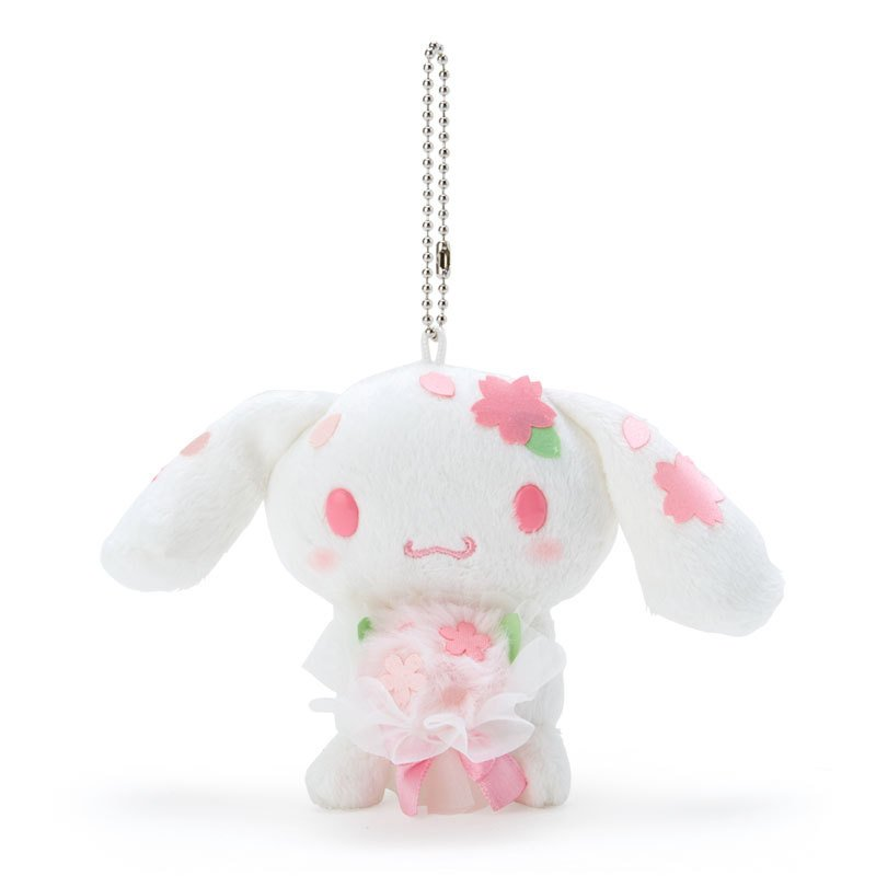 Cinnamoroll Plush Mascot Holder Keychain Sakura Sanrio Japan 2021
