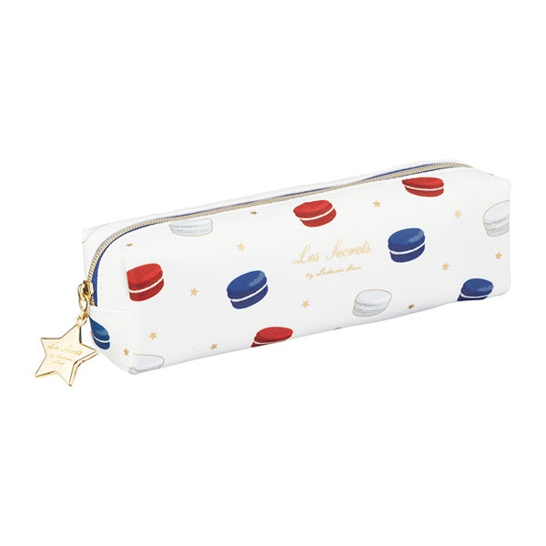 Pen Case Pencil Pouch Macarons Tricolor White Laduree Japan