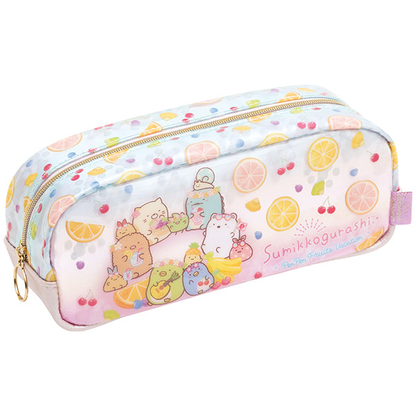 Sumikko Gurashi Pen Case Pencil Pouch Penpen Fruits Vacation San-X Japan