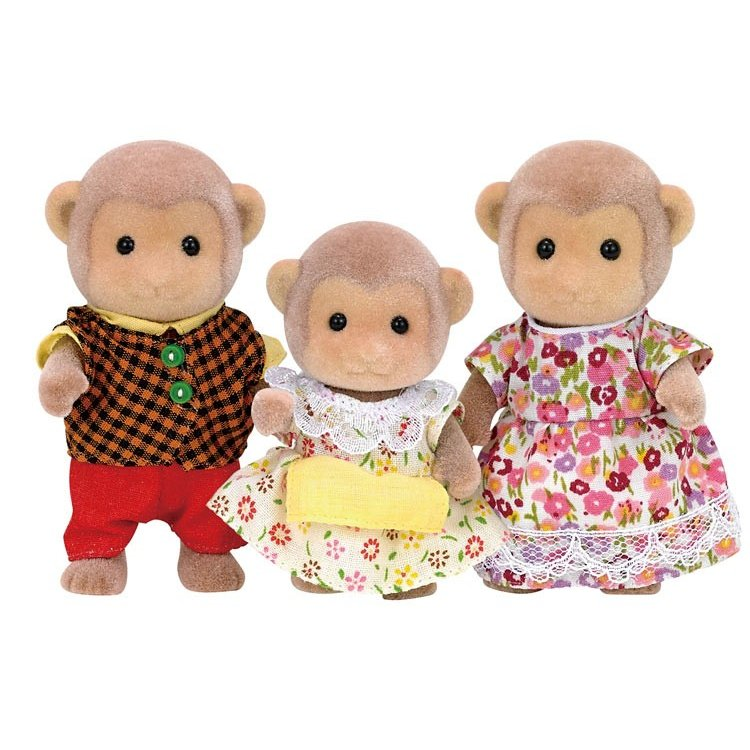 Sylvanian Families Monkey Family Doll Set FS-34 EPOCH Japan