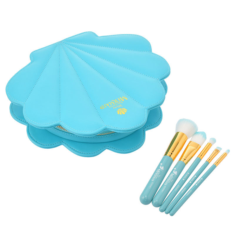 Ariel & Flounder Makeup Brush Set The Little Mermaid 30th Disney Store Japan