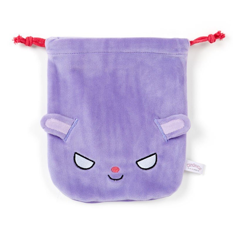 Baku Drawstring Pouch Face Chill Kuromi Sanrio Japan