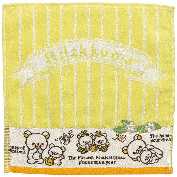Rilakkuma mini Towel Yellow Honey Forest Harvest Festival San-X Japan