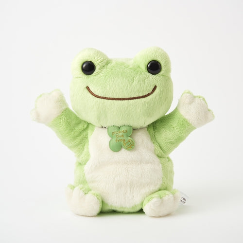 Pickles the Frog Plush Hand Puppet Green Japan