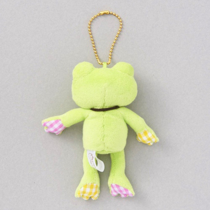 Pickles the Frog Plush Keychain Lucky Motif Ladybug Clover Green Japan