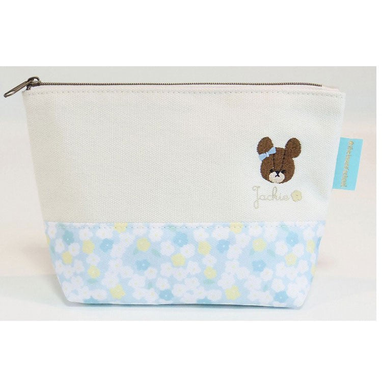 Jackie Pouch Blue Flower the bears' school Japan