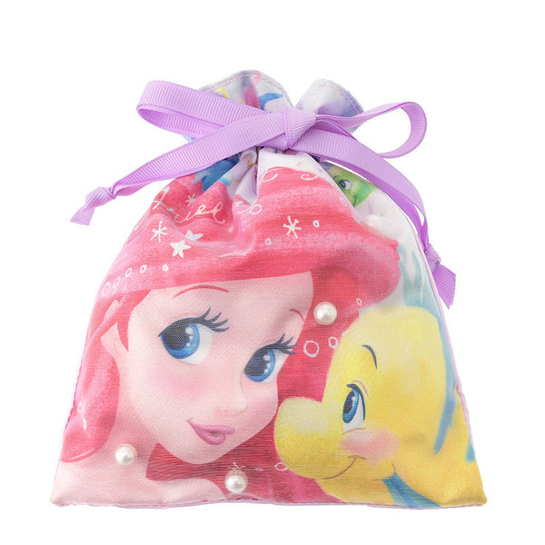 Ariel & Flounder Drawstring Bag Pouch MERMAID LAGOON Disney Store Japan