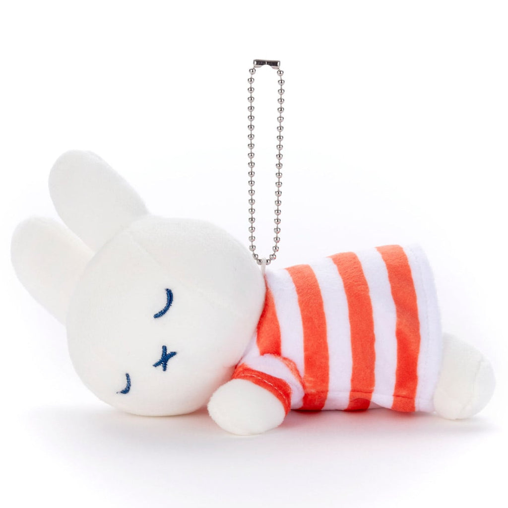 Miffy Plush Keychain Suyasuya Sleeping Stripes Takara Tomy Japan
