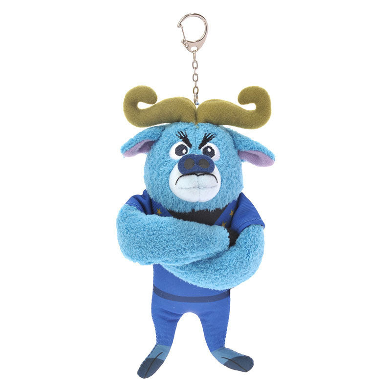 Zootopia Chief Bogo Plush Key Chain Badge Disney Store Japan