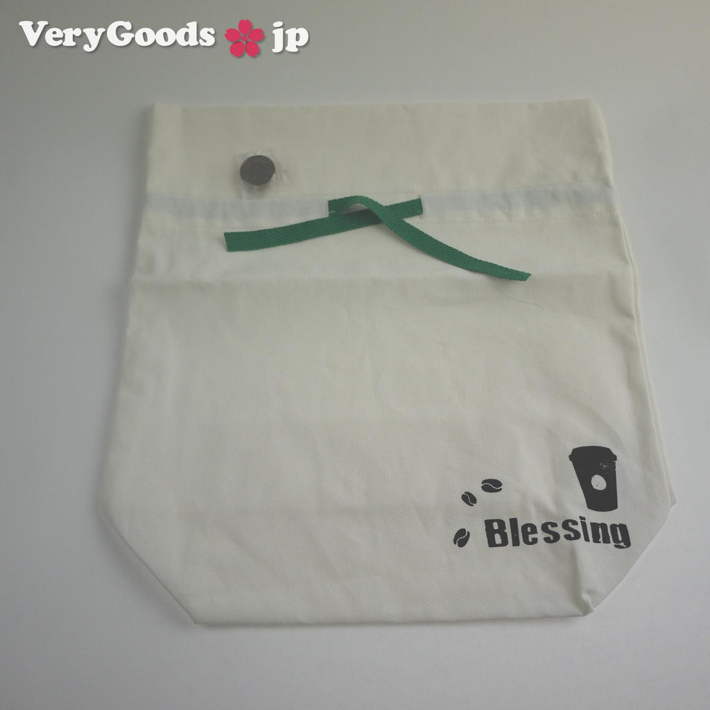 Blessing Gift Bags Cotton Pouch w/ Buckle Ribbon Starbucks Made in Taiwan