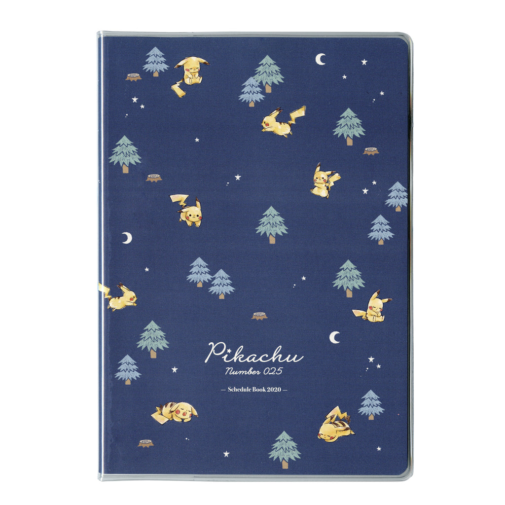 2020 Schedule Book B6 Monthly Forest Night Pikachu number025 Pokemon Japan