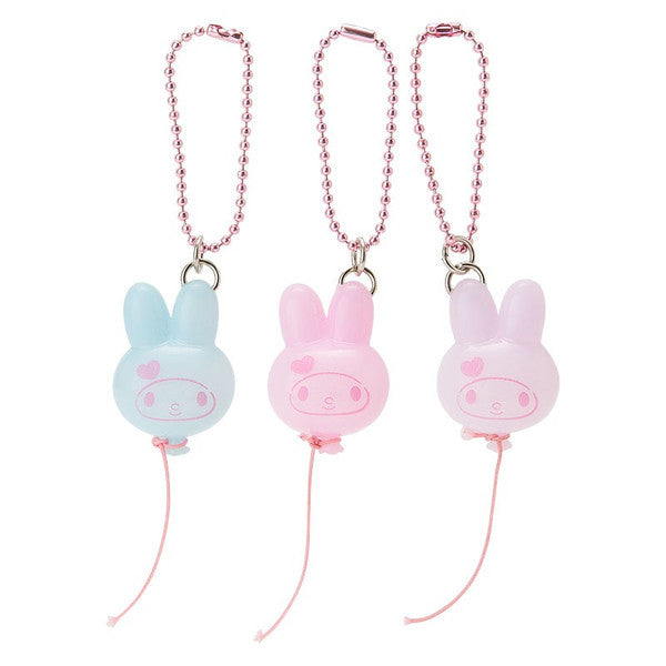 My Melody Balloon Mascot Holder Set Strawberry Color Amusement Park Sanrio Japan
