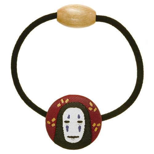 Spirited Away No Face Kaonashi Ponytail Holder Covered Button Ghibli Japan