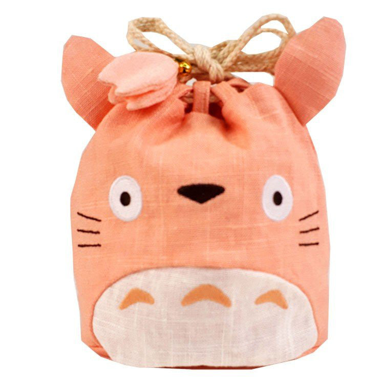 My Neighbor Totoro Drawstring Pouch Japanese Style Pink Studio Ghibli Japan