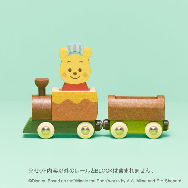 KIDEA Toy Wooden Blocks TRAIN Winnie the Pooh Disney Store Japan