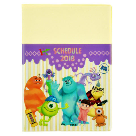 Monsters Inc 2018 Schedule Notebook B6 Monthly Pocket Disney Store Japan