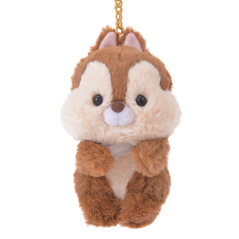 Chip Keychain Key Holder Winter Fur Disney Store Japan